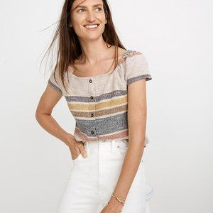 Madewell Texture & Thread ButtonFront Topin Stripe